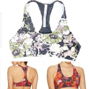 3/$30 Free People Movement Floral Sports Bra